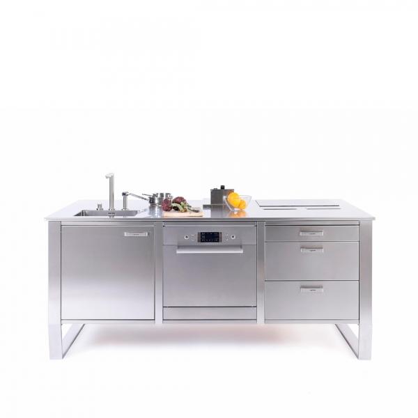 Cucina in acciaio modulo c1 isola 1080x1080
