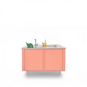 Cucine in Acciaio LOW WINDOW B1 Isola colorata 1080x1080
