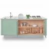 Cucine in Acciaio LOW WINDOW B1 Isola Colorata verde