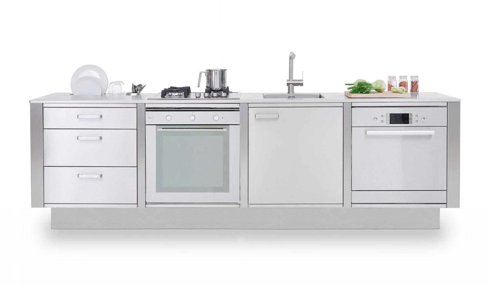 Cucine in Acciaio LOW WINDOW B1 Homemobile