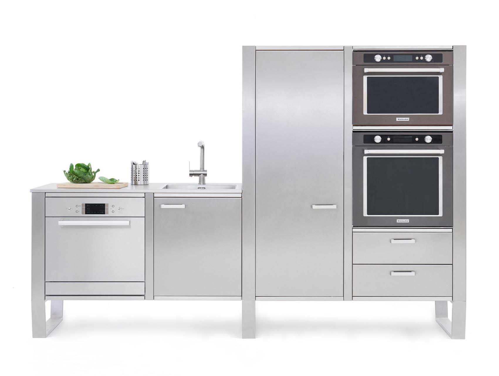 Cucine in Acciaio UP WINDOW Modulo C2 Homemobile